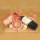 Wine and Cheese Combo:California Cabernet Sauvignon Wine Gift Basket