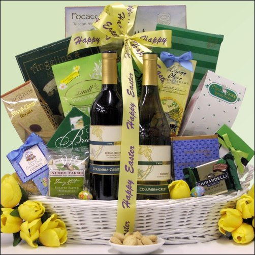 Columbia Crest Vineyards Duet: Easter Gourmet & Wine Gift Basket