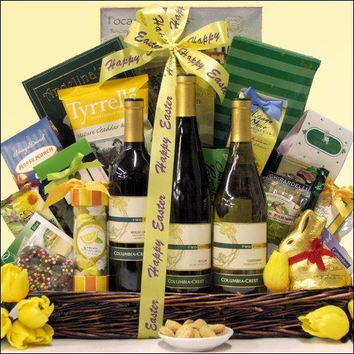 Columbia Crest Vineyards Premium Trio Collection: Easter Gourmet & Wine Gift Basket