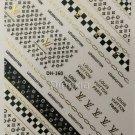 Designer Gold Black Premium Nail Art Stickers Decal LV Style 3D Sticker DH160