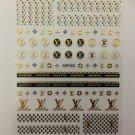 Designer Gold Black 3D Premium Brand Nail Art Stickers Decal Style Sticker MP002