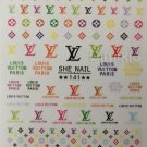 Designer Color Premium Nail Art Stickers Colorful Decal Style Sticker S141