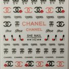 Designer Color Premium Nail Art Stickers Colorful Decal CC Style Sticker S142