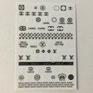 Designer Black White Nail Art Stickers Decal Gucci LV Style Sticker Decals R213