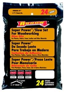 "Arrow Fastener BSS6 4"" Slow Setting Glue Sticks pack of 24"