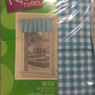 the kids room betsy soft blue valance 60x14