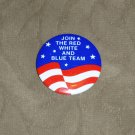 Red White and Blue Team Button