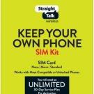 Straight Talk Bring Your Own Phone Sim Card Kit