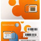 AT&T SIM Card, Prepaid (GoPhone) or Postpaid AT&T Cellular Service (Universal, Triple Cut 3-in-1)