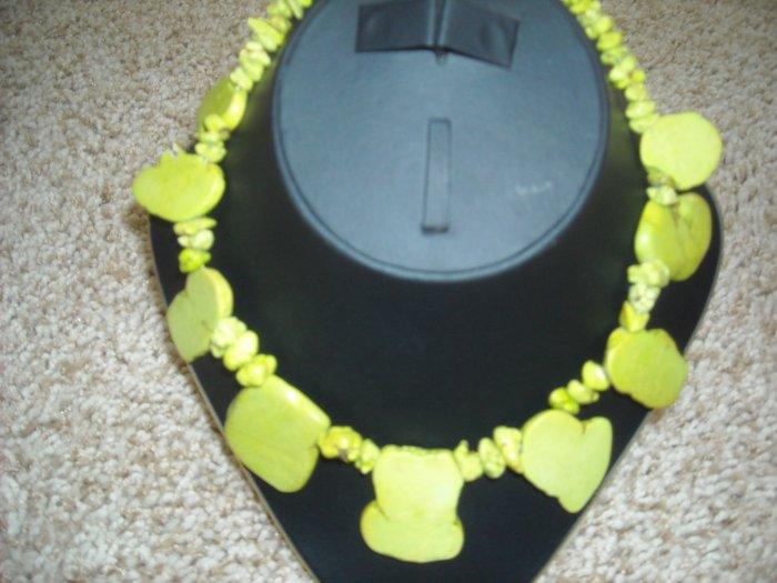 Chunky Green Turquoise necklace.