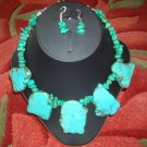 Chunky Turquoise necklace with earrings