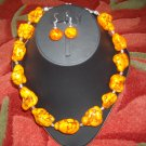 Chunky magnesite necklace