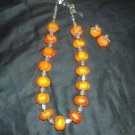 Chunky Magnesite necklace with earrings
