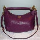 NWT Coach Hailey Madison 14304 Handbag Purple Leather