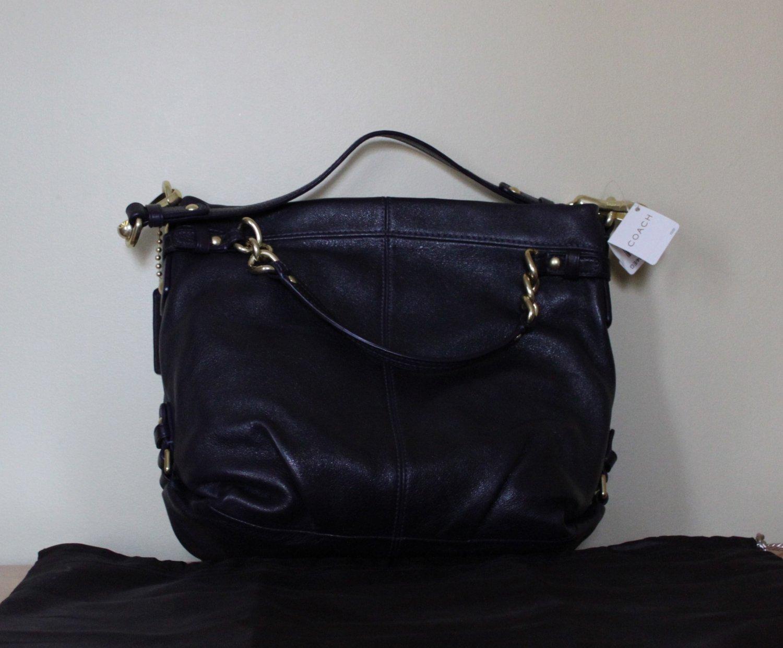 NWT Coach Brooke 14142 Handbag Eggplant Leather Bag