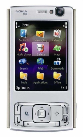 Brand New! NOKIA N95 Unlocked Smartphone w/Black Back - Retail