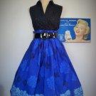 Vintage Retro Novelty Print Skirt