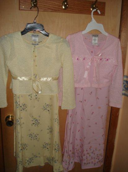 2 MODEST GIRLS SPRING DRESSES  #09-0107