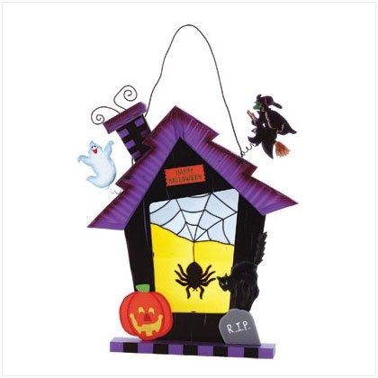 Stained Glass Halloween Wall Plaque