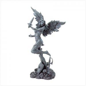 Black Evil Angel Figurine
