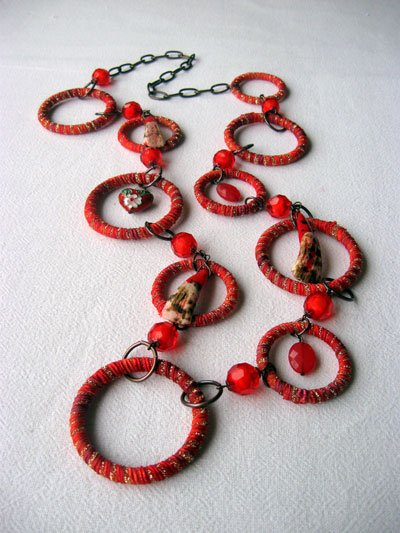 Red Hoops with Red Heart