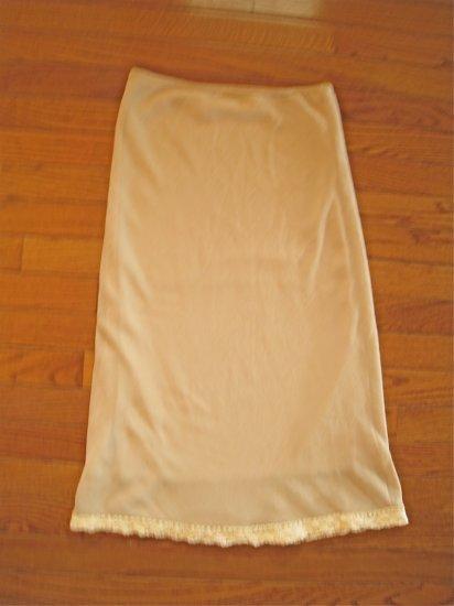 Tan Crinkle Skirt Forever21 Large
