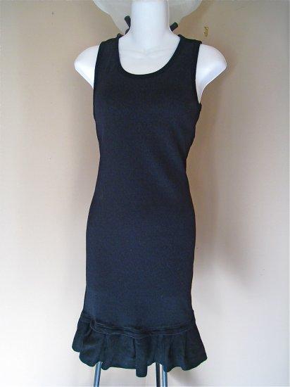 NWOT Black Ruffle Hem Dress Small FREE SHIPPING