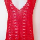 NEW Red Crochet Tunic Vest FREE SHIPPING
