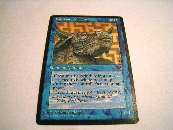 Labyrinth Minotaur 1 & 2 Magic Cards FREE SHIPPING