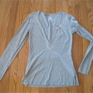 Gray Silver Slim Fit Beaded Tunic Lilu MED free shipping