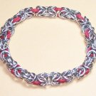 AR-CH001-RSIL Red and Silver Stretch Bracelet