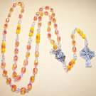 R002-S Orange and Pink Rosary
