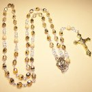 R001-G Gold Rosary