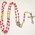 SR001-G Indian Pink Swarovski Rosary