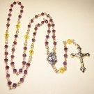 SR002-G Swarovski Amethyst Rosary