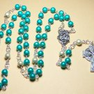 RM002-S Turquoise Miracle Bead Rosary