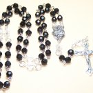 FR003-S Black and Crystal Rosary