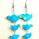 LPG026-BE Blue Birds Earrings