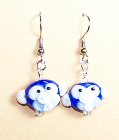 LPG045-BE Monkey Earrings