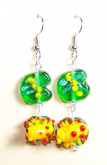 LPG066-BE Frog Earrings