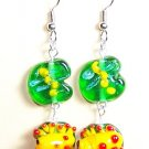 LPG066-BE Frog Earrings