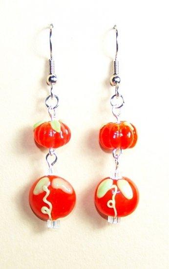 LPG069-BE Pumpkin Earrings