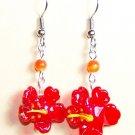 LPG072-BE Hibiscus Earrings