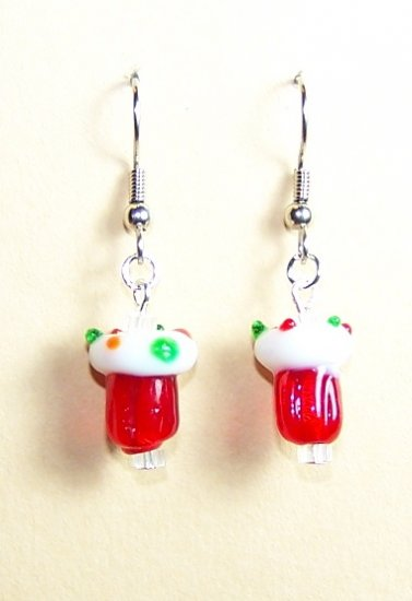 LPG027-XMAS Christmas Cupcake Earrings