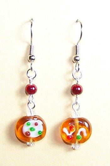 LPG033-XMAS Gingerbread Cookie Earrings