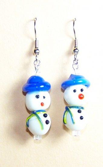 LPG034-XMAS Snowman Earrings