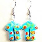 LPG075-BE Aloha Shirt Earrings