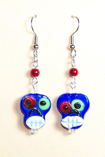 LPG083-BE Skull Earrings