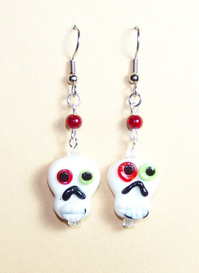 LPG084-BE Skull Earrings