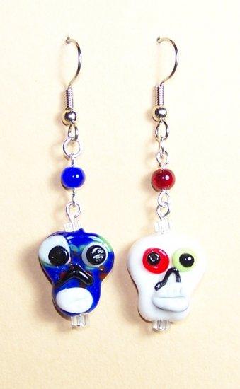 LPG089-BE Skull Earrings